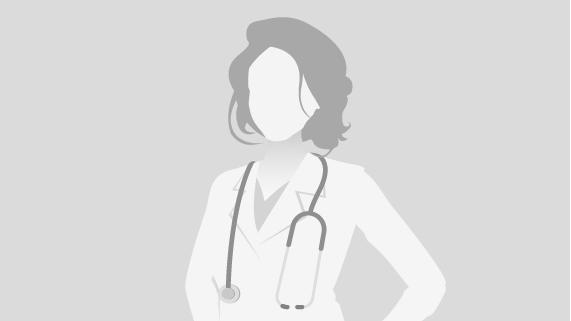 Grey/White Female Doctor in Lab Coat