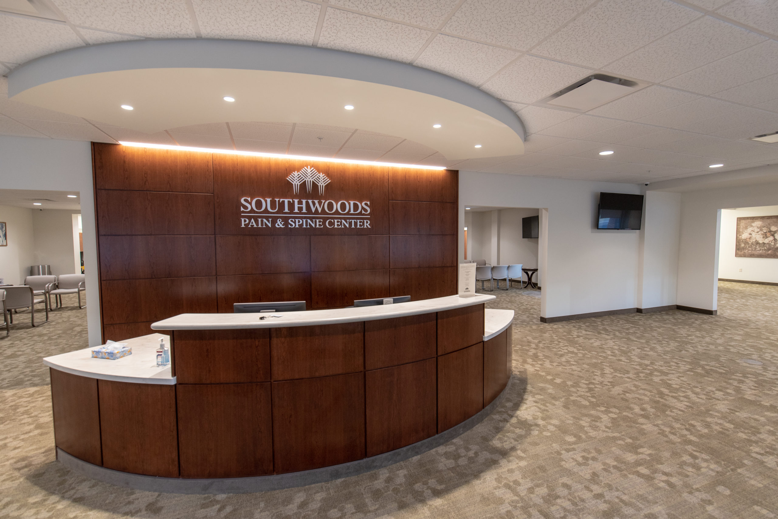 Southwoods Pain and Spine Center front desk