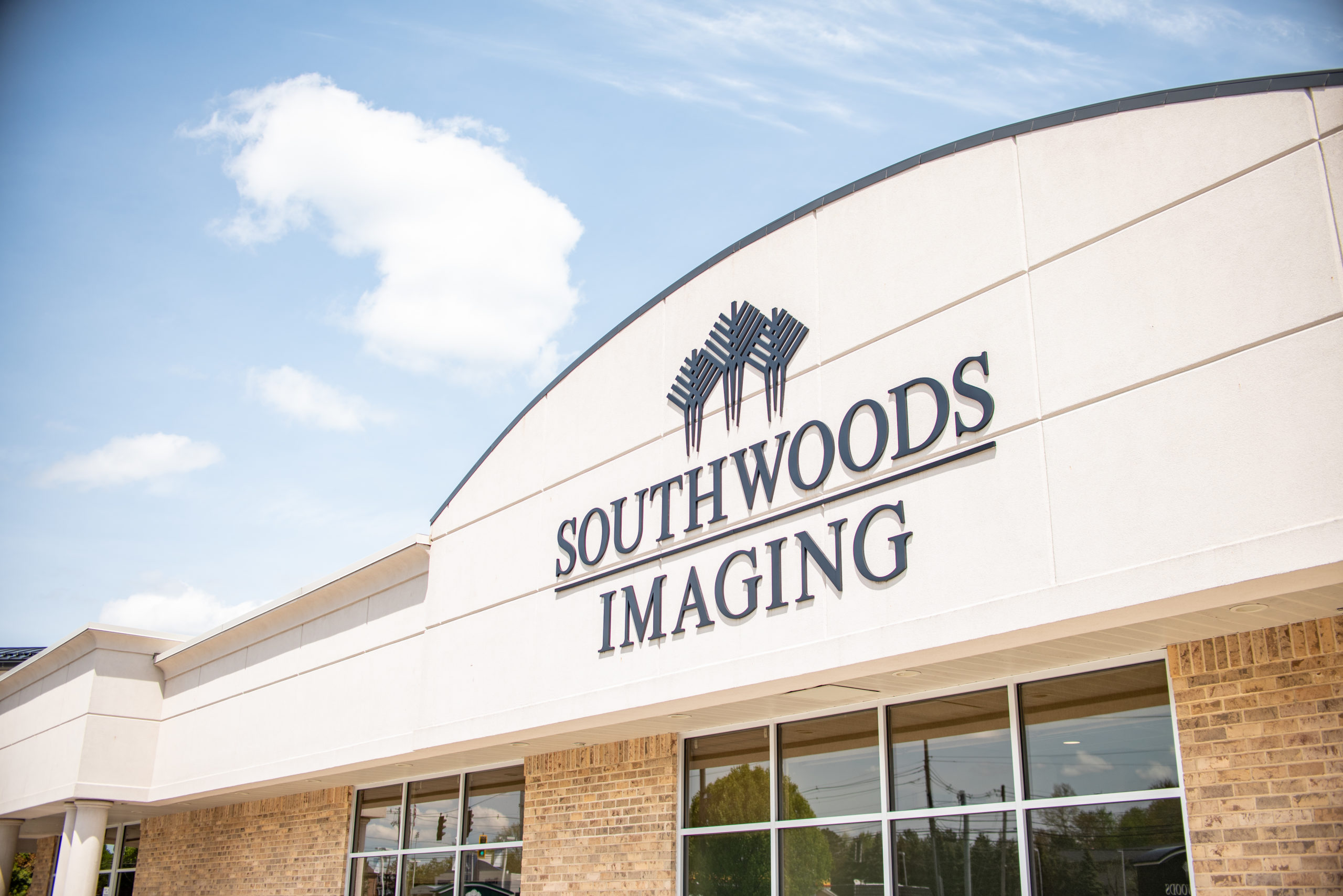 Southwoods Imaging logo on the imaging building
