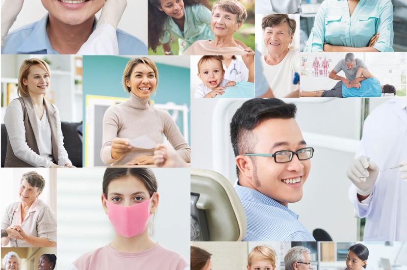 Collage of patients enjoying their care